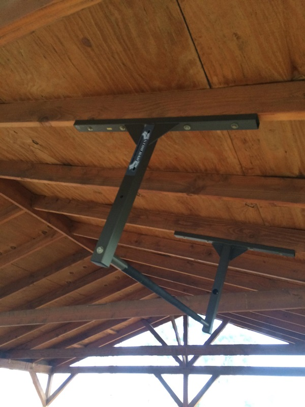 Eave Rafter Beam Mounted Pull Up Bar, Pull Up Bar Garage Ceiling